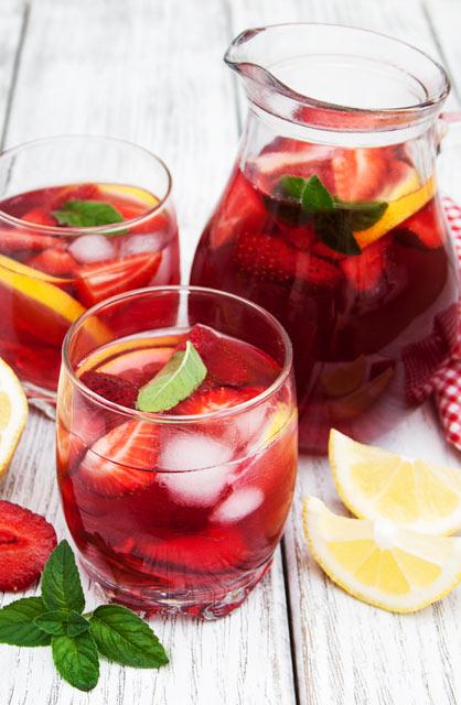 Strawberry Basil Tea